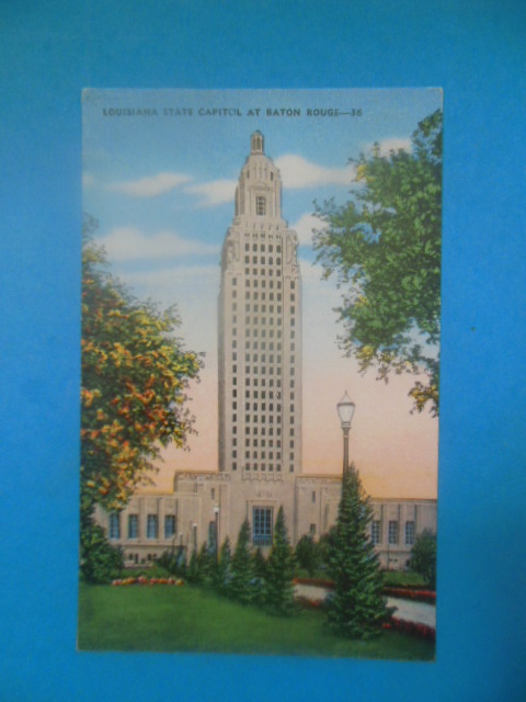 Image for Postcard Louisiana State Capitol at Baton Rouge (unused)