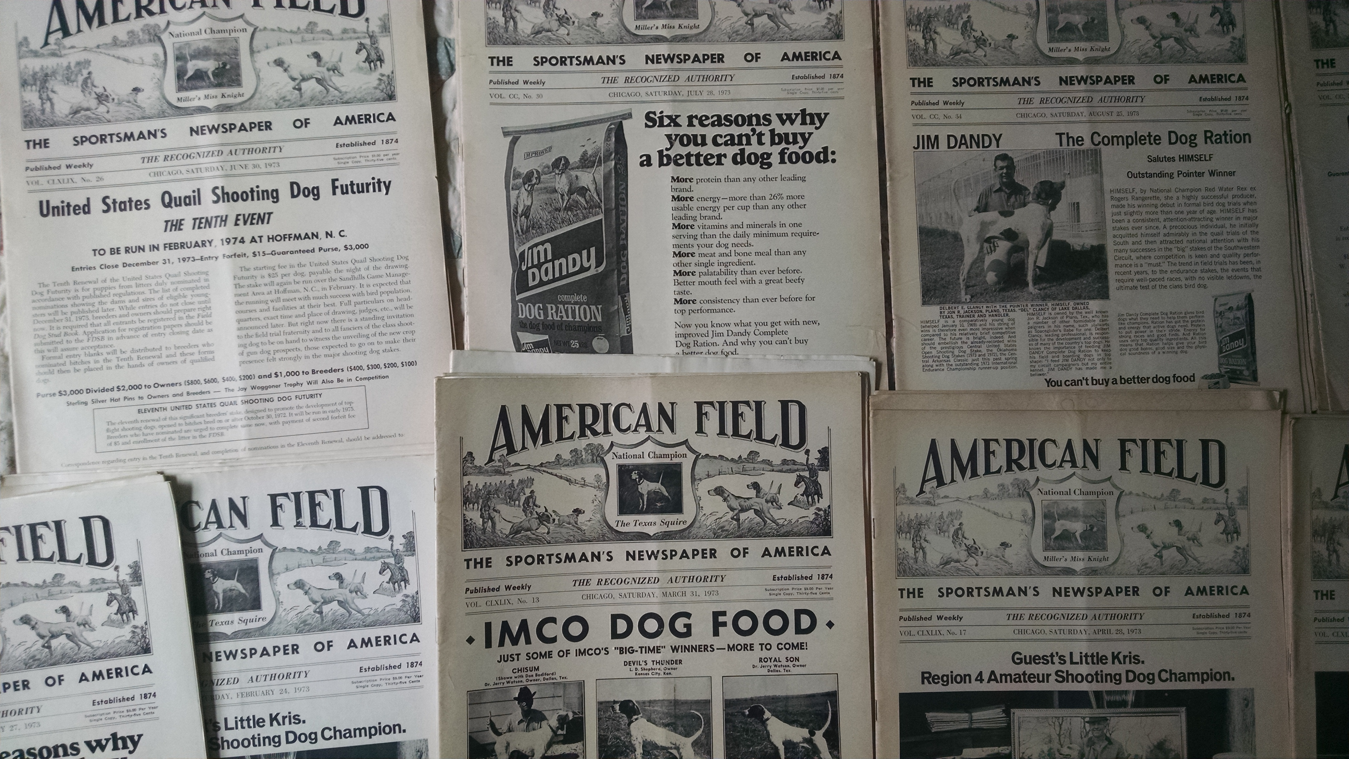 Image for AMERICAN FIELD  THE SPORTSMAN'S  NEWSPAPER OF AMERICA