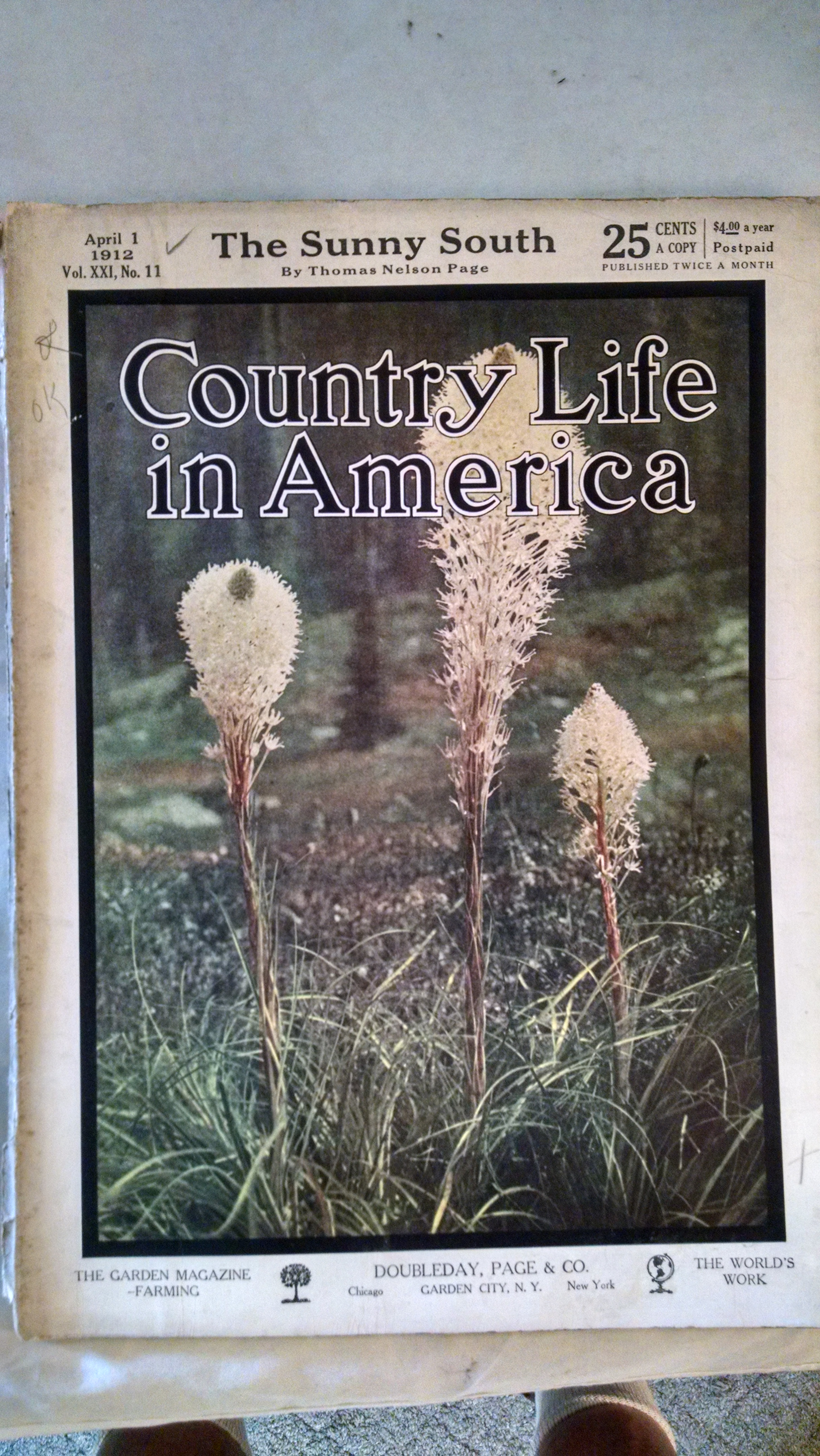 Image for COUNTRY LIVING IN AMERICA  - APRIL 1 1912