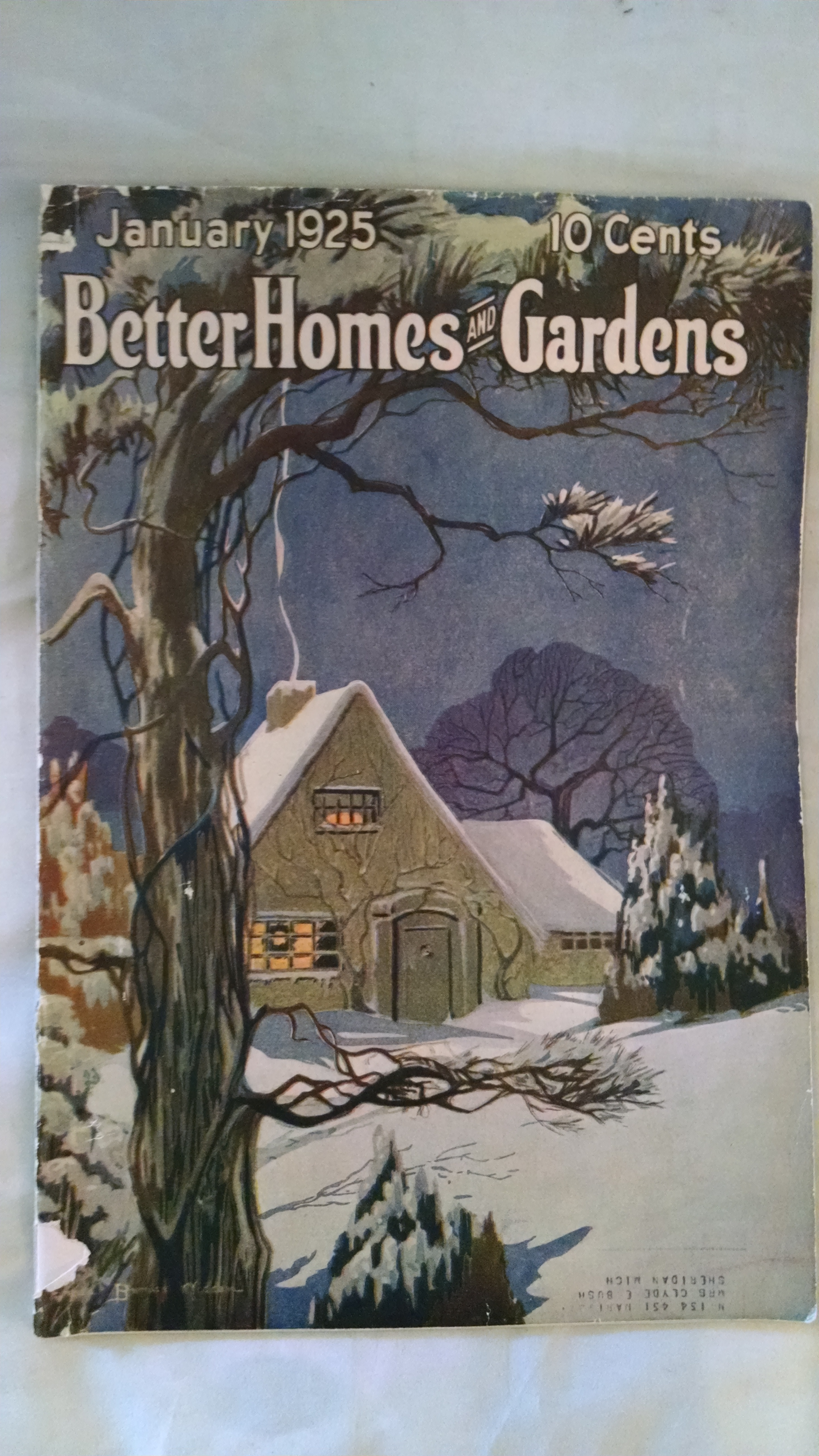Image for BETTER HOMES AND GARDENS JANUARY 1925