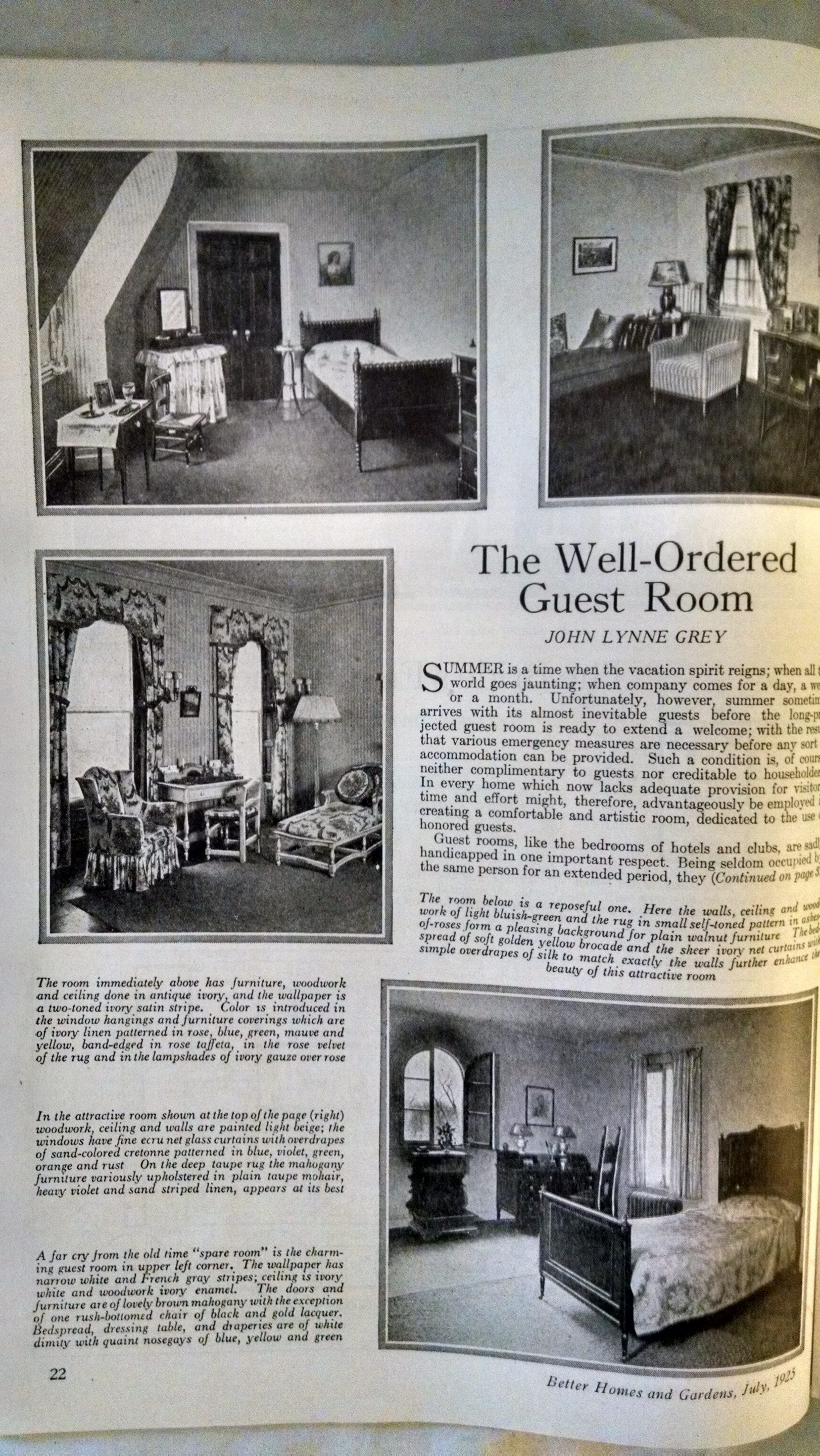 Image for BETTER HOMES AND GARDENS JULY 1925