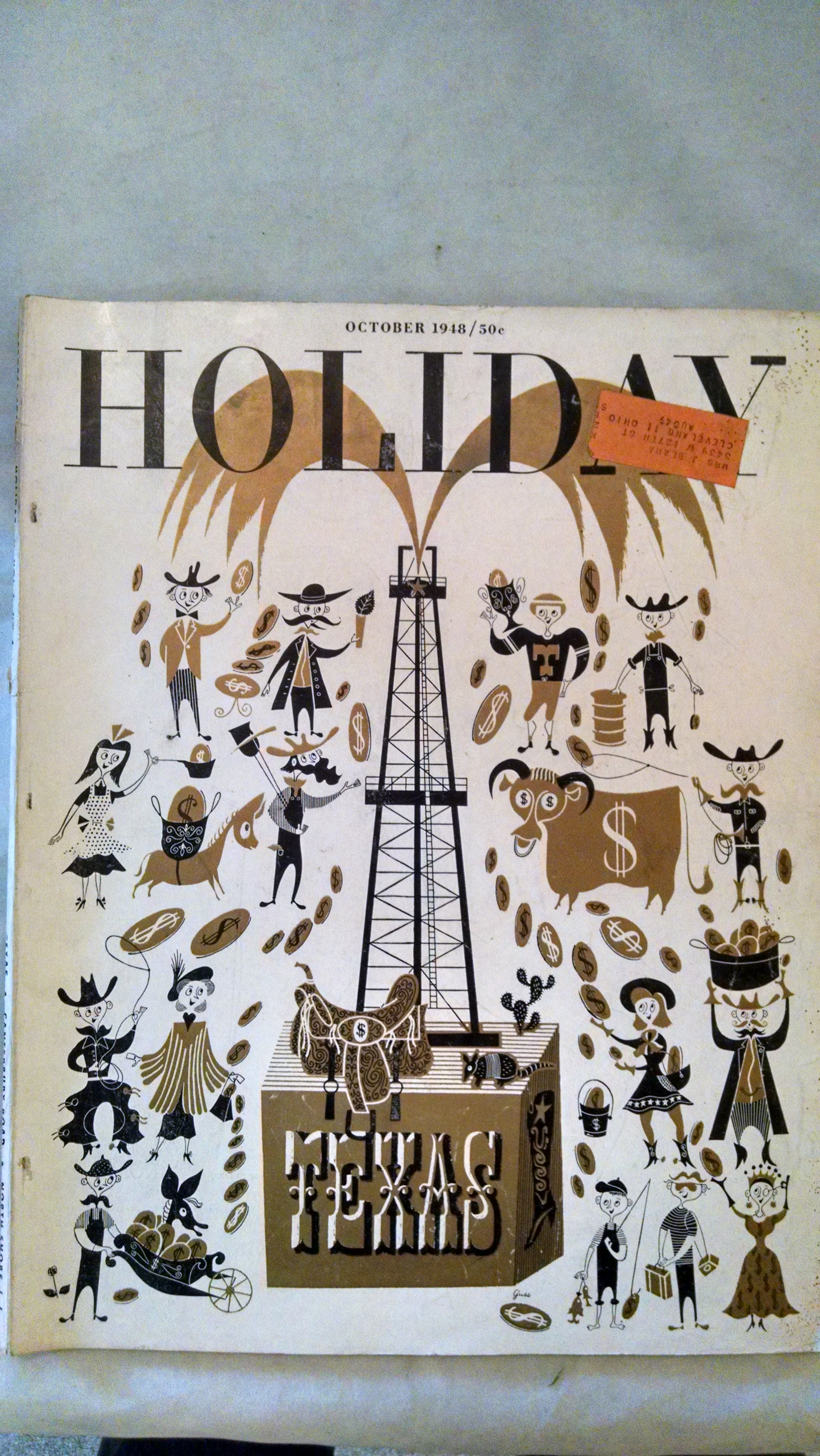 Image for HOLIDAY MAGAZINE OCTOBER 1948