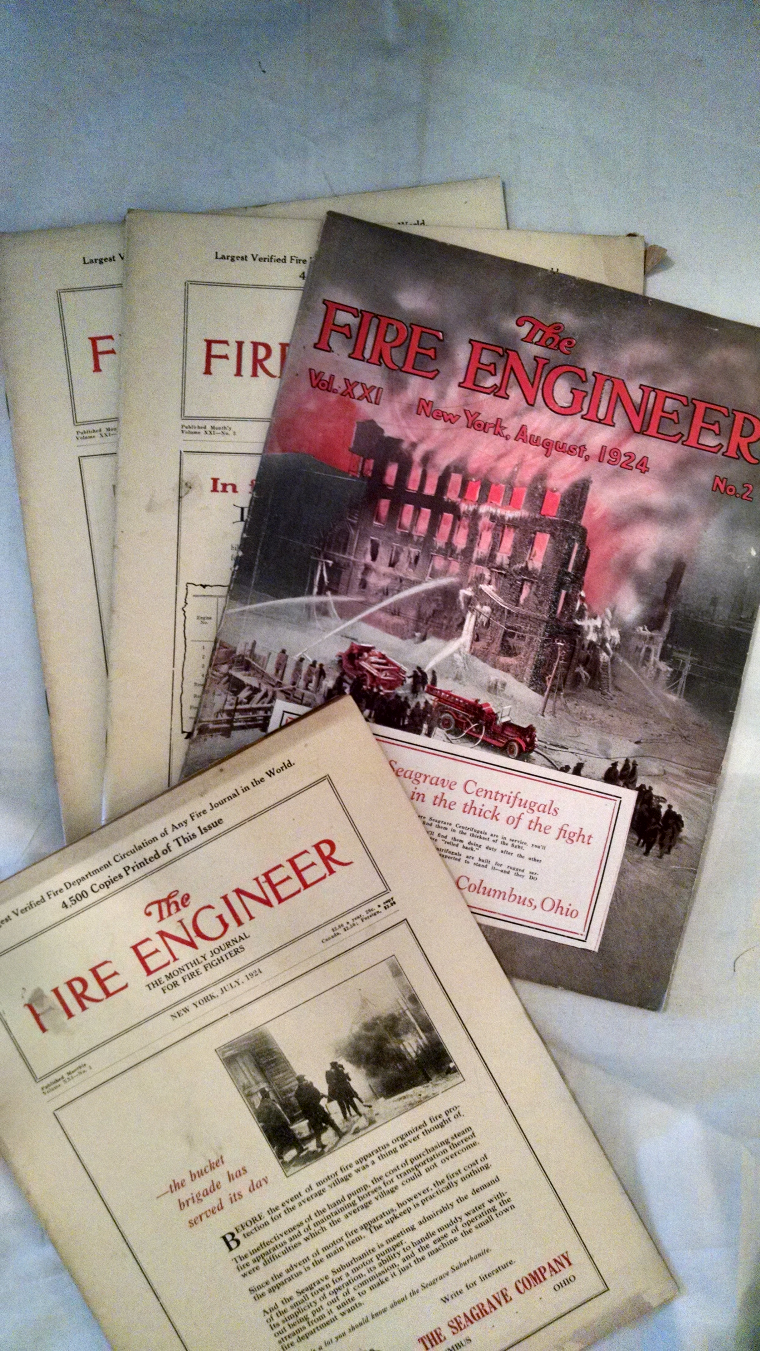Image for THE FIRE ENGINEER   10 ISSUES 1924-25