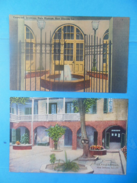 Image for Postcards: Courtyards of New Orleans Old French Courtyard. Courtyard Louisiana State Museum
