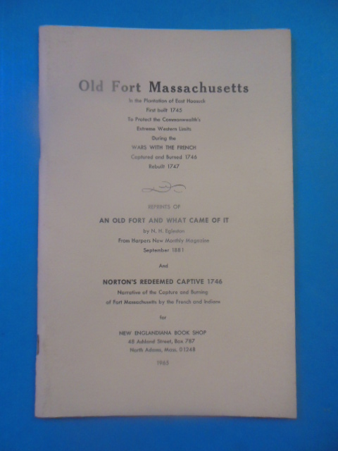 Image for Old Fort Massachusetts In the Plantation of East Hoesuck (1965)