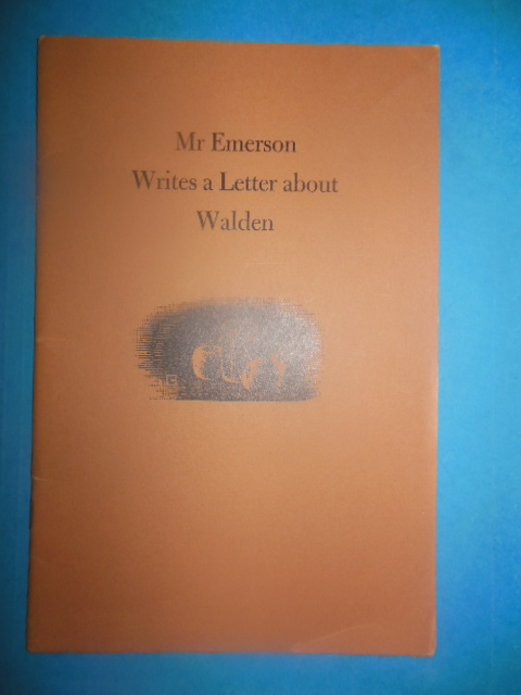 Image for Mr. Emerson Writes A Letter About Walden (1954)
