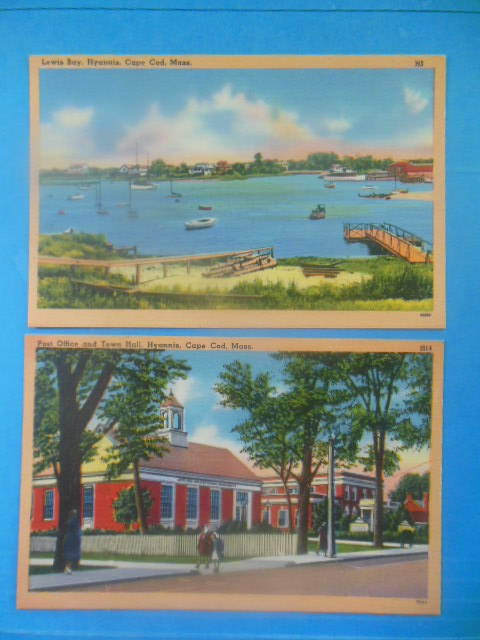 Image for Postcards Hyannis Cape Cod, Mass. (Lewis Bay, Post Office and Town Hall)