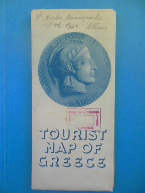 Image for Tourist Map of Greece (Very Large, 1952)