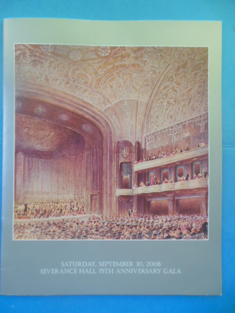 Image for 75th Anniversary Gala Program Severance Hall, September 30, 2006 (Cleveland, Ohio)