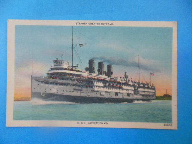 Image for Postcard Steamer Greater Buffalo