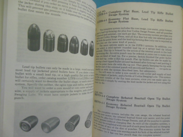 The Corbin Handbook and Catalog of Bullet Swaging No  6 (extra ephemera  laid-in)