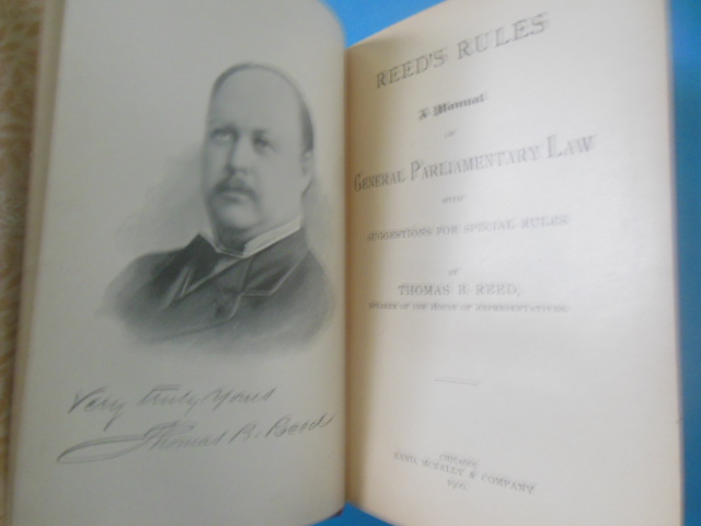 Image for Reed's Parliamentary Rules With Suggestions For Special Rules (1900)