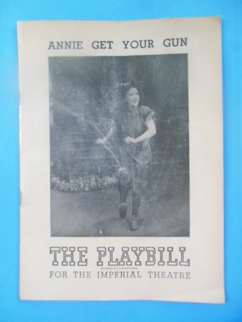 Image for The Playbill For the Imperial Theatre Annie Get Your Gun (Ethel Merman, 1948)