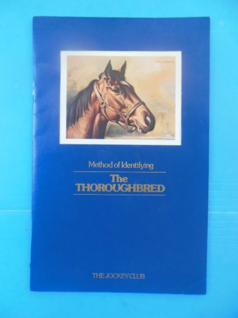 Image for Method of Identifying The Thoroughbred Horse