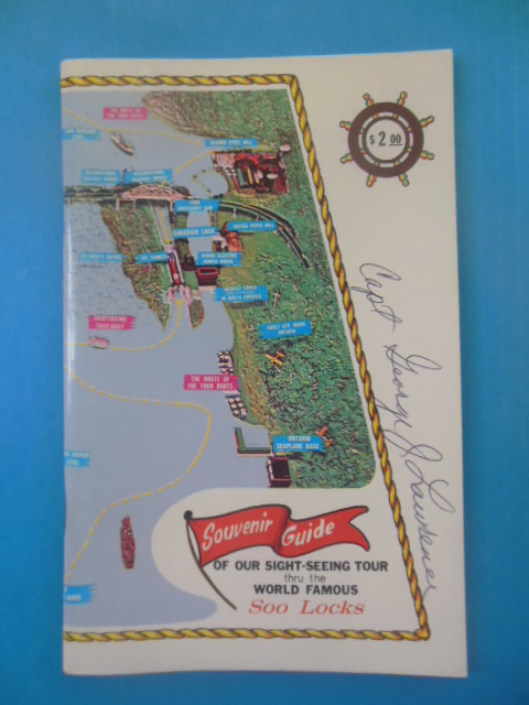 Image for Souvenir Guide Of Tour Through World Famous Soo Locks (1977 SIGNED by Captain