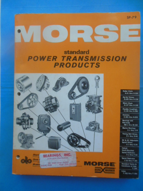 Image for Morse Standard Power Transmission Products Catalog (1979)