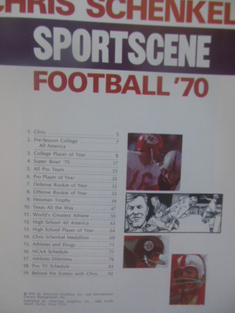 Image for Chris Schenkel's Sportscene Football '70 )1970 Pro, College, High School Teams 1970)