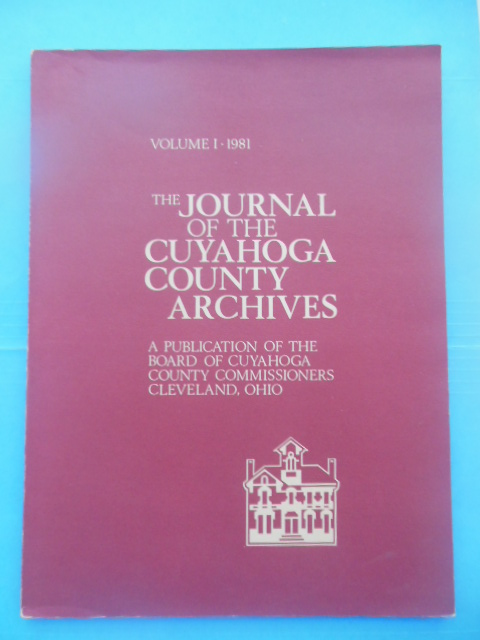 Image for The Journal of the Cuyahoga County Archives