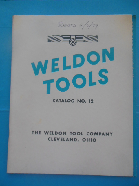 Image for Weldon Tools Catalog No. 12 (1978)
