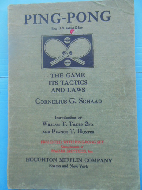 Image for Ping Pong The Game and its Tactics and Laws (1930)