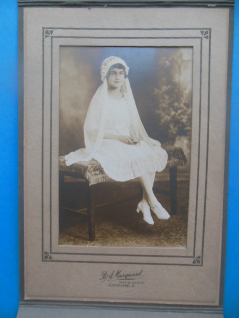 Image for 1920's Photograph Girl's First Holy Communion