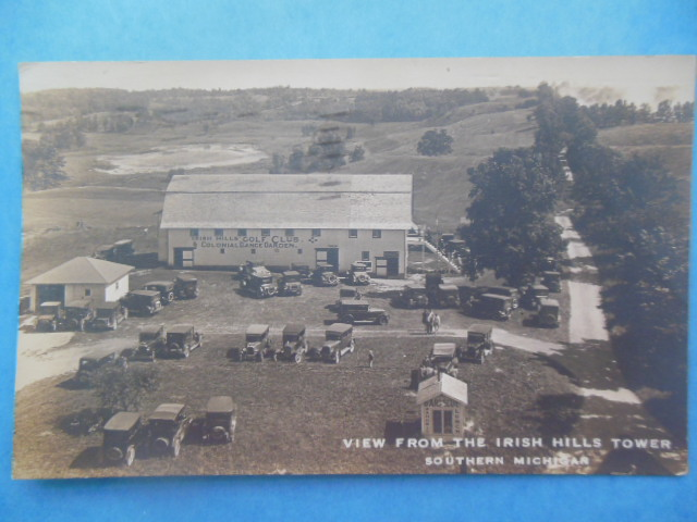 Image for Real Photo Postcard View From Irish Hills Tower Southern Michigan (1927)