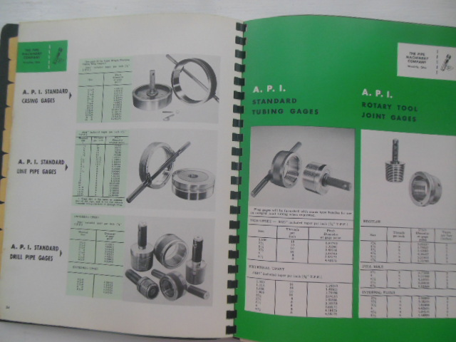 Image for Gages The Pipe Machinery Company Wickliffe, Ohio Catalog 1958 Prices, 1961 Stock Report