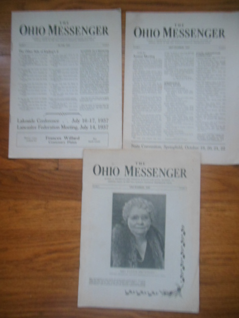 Image for The Ohio Messenger: Official Organ of the Ohio Woman's Christian Temperance Union (three issues, 1937)