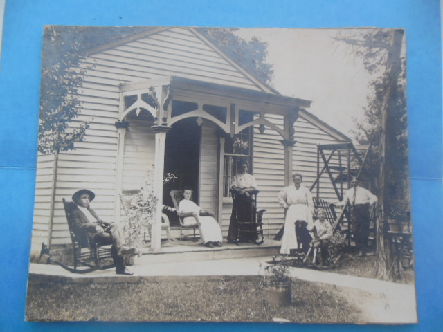 Image for Photograph Taylorsville, Indiana Family On the Porch 1909
