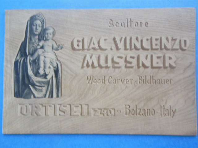 Image for Scultore Giac. Vincenzo Mussner Wood Carver. Studio for Ecclesiastical Art in Wood (1958)