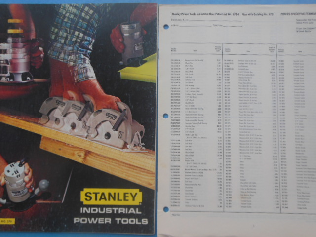 Image for Stanley Industrial Power Tools Catalog No. 376 (1976 with price list)