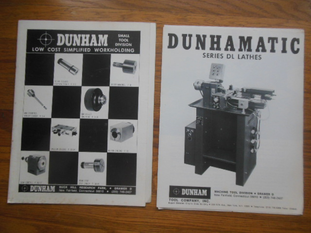 Image for Dunham Tool Company Catalogs: Dunham Small Tool Division, Dunhamatic Series DL Lathes (1975-76)