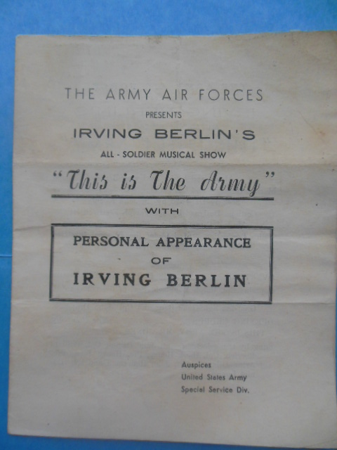 "Image for The Army Air Forces Presents Irving Berlin's All Soldier Musical Show ""This Is the Army"" with Personal Appearance of Irving Berlin (1942-43)"