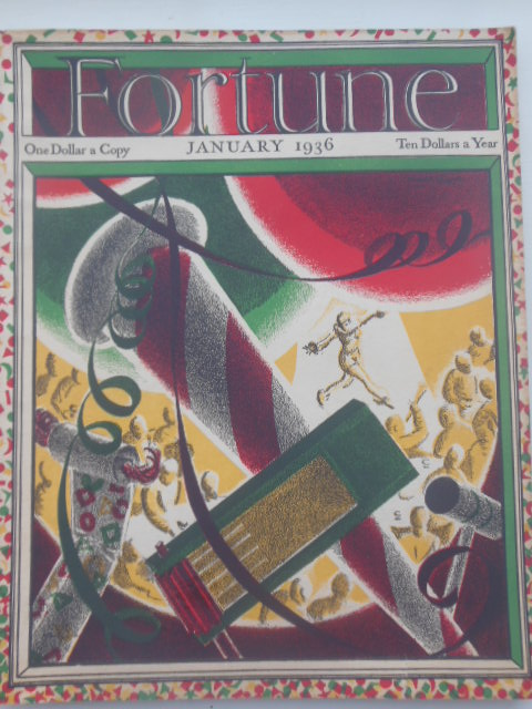 Image for Fortune Magazine January 1936 (Miami, Florida, Furs. Beer In Cans)