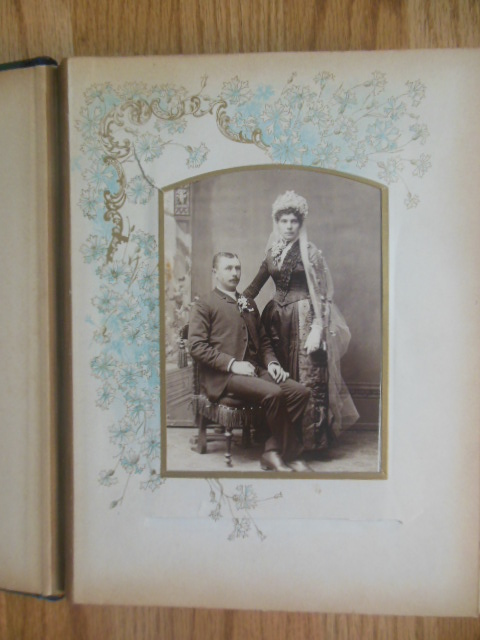 Image for Celluloid Photo Album with 26 Cabinet Photos
