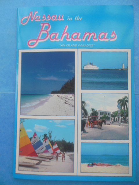 "Image for Nassau in the Bahamas ""An Island Paradise"" (colorful map laid-in, 1980)"