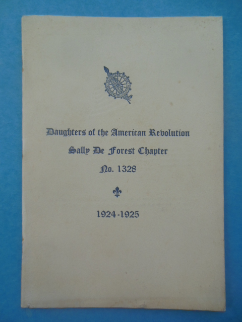 Image for Daughters of the American Revolution Sally De Forest Chapter No. 1328 (1924-25)