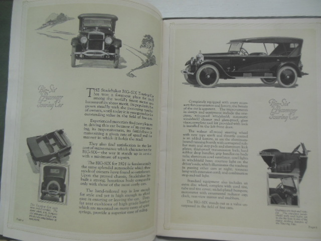 Image for Studebaker Cars Catalog Big-Six and Special-Six Models (1924)