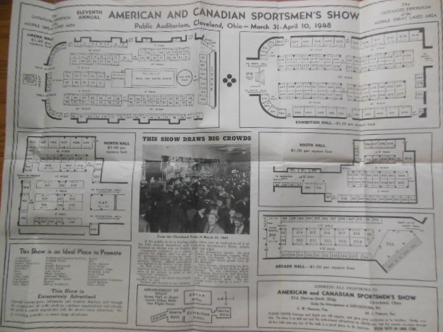Image for Poster: Eleventh Annual American and Canadian Sportsmen's Show Cleveland, Ohio 1948