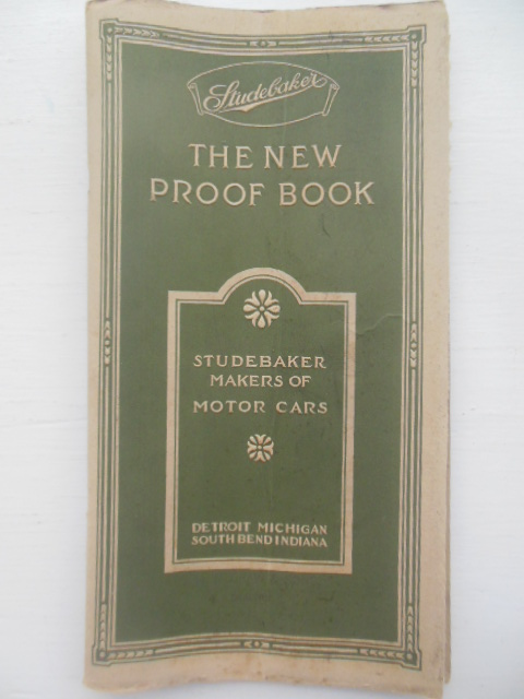 Image for Studebaker The New Proof Book Studebaker Makers of Motor Cars (1915)
