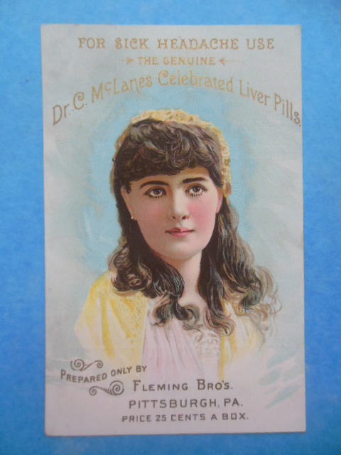 Image for Trade Card: Dr. C. McLanes Liver Pills Prepared Only by Fleming Bros. Pittsburgh, PA (1888)