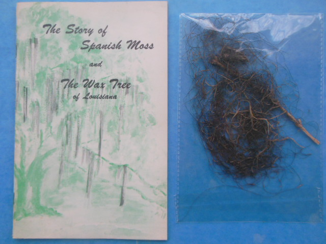 Image for The Story of Spanish Moss and The Wax Tree Louisiana's Forgotten Product (Sample of Spanish Moss Laid-in)