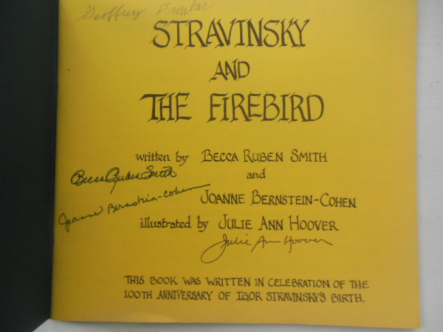 Image for Stravinsky and The Firebird: 100th Anniversary  of Igor Stravinsky's Birth (1982, SIGNED))