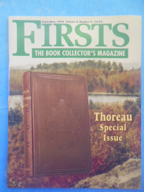 Image for Firsts: The Book Collector's Magazine; Thoreau Special Issue September 1999)
