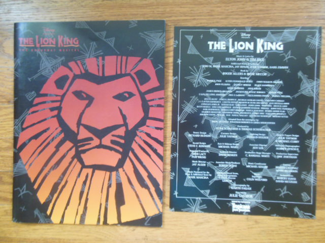 Image for The Lion King: The Broadway Musical (1997 Souvenir)