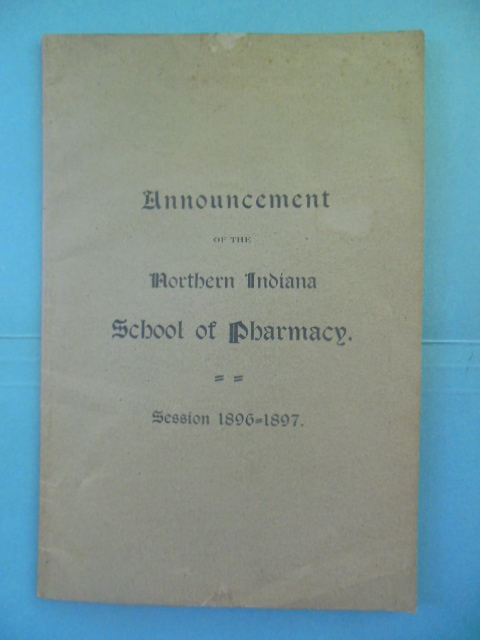 Image for Announcement of the Northern Indiana School  of Pharmacy Session 1896-97