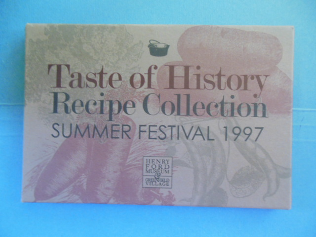 Image for Taste of History Recipe Collection Summer Festival 1997 (Henry Ford Museum)