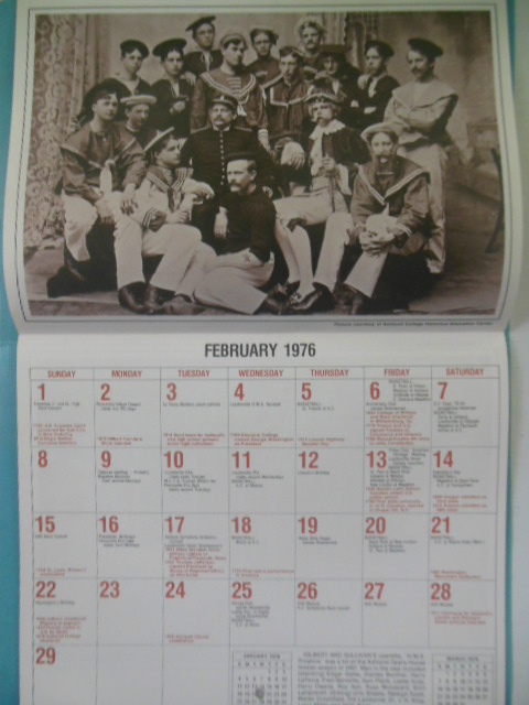 Image for Ashland County Historical Calendar Commemorating the 1976 Bicentennial (Unused)