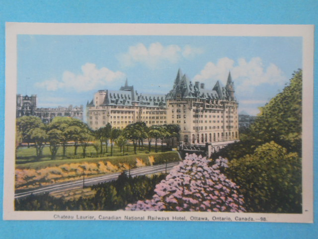 Image for Postcard Chateau Laurier, Canadian National Railways Hotel, Ottawa, Canada