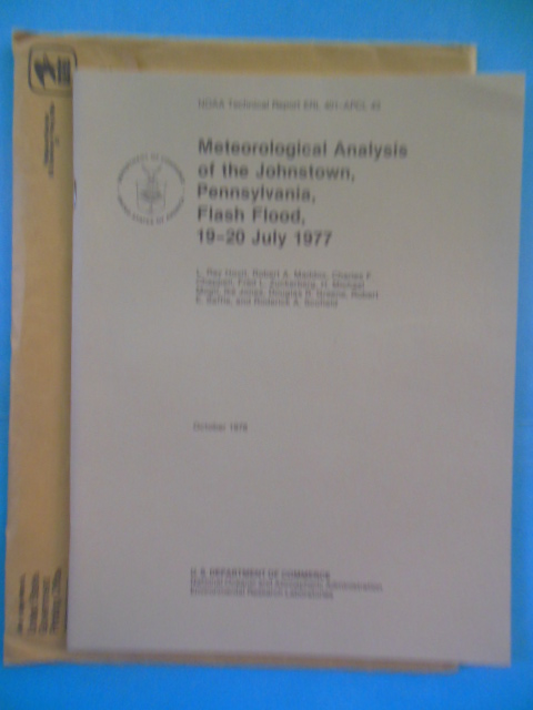Image for Meteorological Analysis of the Johnstown, Pennsylvania Flash Flood 19-20 July 1977 (In original envelope)